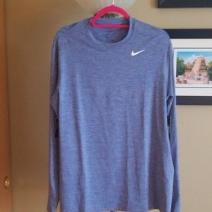 Long sleeve Nike workout top.
